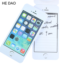1 Pcs New Creative Notebook Sticky Post It Note Paper Cell Phone Shaped Memo Pad Office Supplies Stationery Gift(China)
