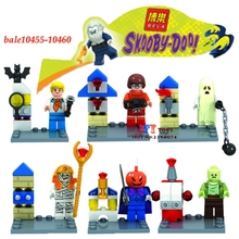6pcs star super heroes marvel Bela Scooby Doo Fred/Shaggy building blocks action  sets model bricks toys for children