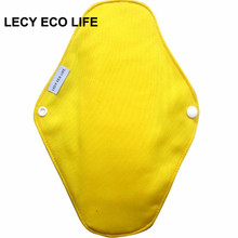 LECY ECO LIFE washable cloth sanitary napkin pads for menstrual period, 10 colors mama pads with organic bamboo cotton inner(China)