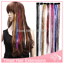 100pcs/lot Clip In Hair Extensions 16Inch BellaVia Hair Extension Rainbow Wholesale Synthetic Hairpiece Clip On Hair Extension