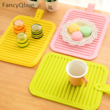 Sale Creative Kitchen Silicone Placemat Table Mats Potholder Bowl Pvc Placemats Cup Bowl Pads Plate Coaster Potholder Pot Mat