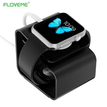 FLOVEME Portable Aluminum Alloy Charger Stand Holder Bracket Dock Station Use For Apple Watch For iWatch Charger Mount Silver