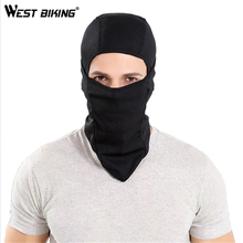WEST BIKING Balaclava Tactical Sunscreen Mask Sport Cycling Motorcycle Fleece Half Helmet Face Mask Hood Windproof Cap Headwear