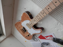 Factory custom shop  Newest solid body Natural Maple Wood standard telecaster electric Guitar free shipping 3 1
