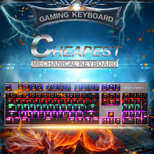 E - 3LUE K753 USB Gaming Keyboard RGB 104 Keys Mechanical Keyboard Blue Switch Mixed Backlit Keyboard pk ck104 teclado mecanio