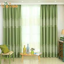 1 PC Embroidered Strings Of Grass Blackout Curtains For Living Room Kids Room Window Drape Curtain Custom Made(China)