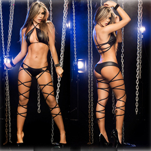 AFUMAN Fashion Sexy lingerie backless Halter three points bundled suits erotic temptation nightclub charming underwear