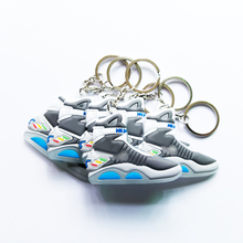 Mix 12pcs/lot Back To The Future II Glow In The Dark Air Mag Key Chain, Sneaker Keychain Key Chain Key Ring Key Holder Gift(China)