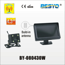 Heavy vehicle (trucks ,bus ,vans) reversing   rearview wireless  monitor with camera system BY-080430W