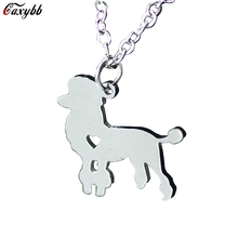 2016 foreign trade jewelry wholesale stainless steel necklace pendant necklace dog tag pet poodle animals