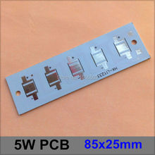 20 Pcs/lot LED Aluminum Plate 5W 85*25mm Rectangle heat sink LED High Power PCB Plate Circuit Base for 5W LED Panel Lamp