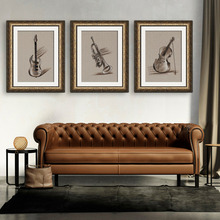 Free Shipping Framed Canvas Painting Art Musical Instruments Painting Canvas Print Wall Art Home Decor Decoration