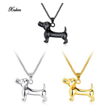 2018 dogs years birthday stainless steel Men's Zodiac dog pendant Necklace for man gift cao colar pingente presente aniversario(China)