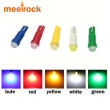 Meetrock 10pcs ceramic T5 led dashboard light gauge instrument car lamp led t5 side auto wedge bulb SMD COB DC 12V
