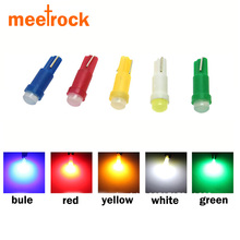 Meetrock 10pcs ceramic T5 led dashboard light gauge instrument car lamp led t5 side auto wedge bulb SMD COB DC 12V(China)