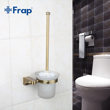 Frap 1 Set Retro Toilet Space aluminum Brush Holder Mounting Seat glass cups Bathroom Hardware Accessories F1410