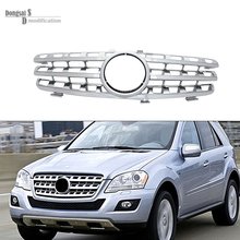 Mercedes M ML class w164 2006-2008 silvery black front mesh grille grill for benz  ML350 ML400 ML550