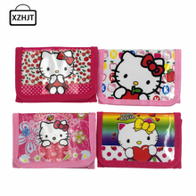2016 New Hello Kitty Cat Coin Purse Cute Kids Cartoon Wallet Kawaii Bag Coin Pouch Children Purse Holder Women Coin Wallet(China)