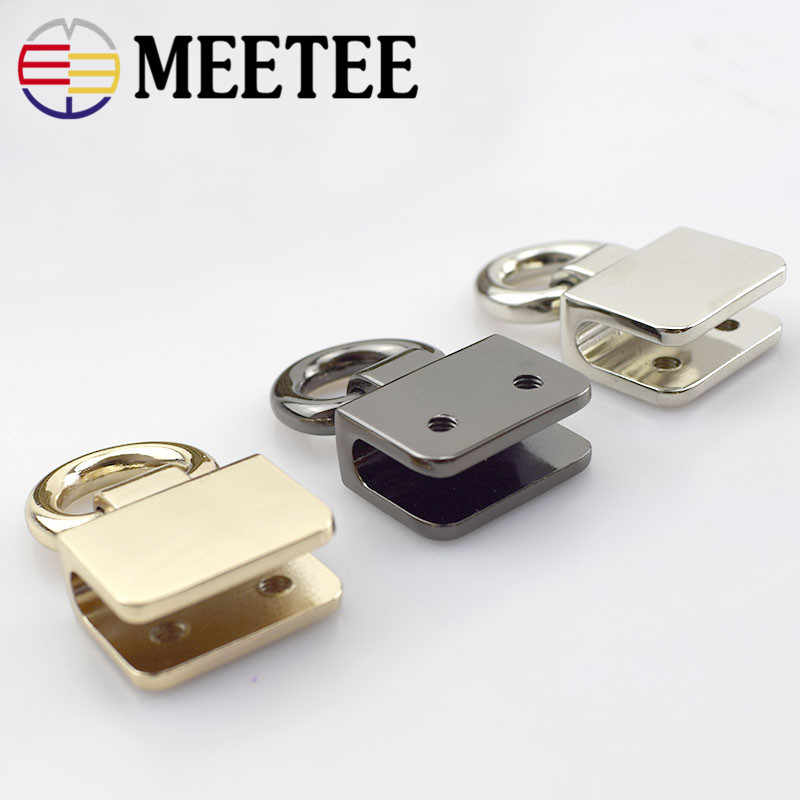 097afba4631 2 4pcs Meetee Metal O D Rings Side Clip Buckle DIY Shoes Garment Belts  Handbag Hanging