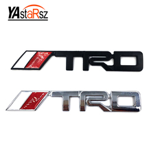 New 3D Chrome TRD Racing Development Logo Metal Emblem Badge Cool Car Styling Decal for Toyota Car Tail Door Head Car Sticker