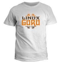 New Arrivals 2017 Men'S Linux Guru Design Men'S Fashion Short Sleeve Tees / Free Shipping