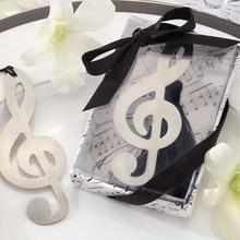 20pcs Silver Music Note Bookmark Wedding Gifts Baby Shower Recuerdos Para Bautizo regalos de boda para los invitados souvenir(China)