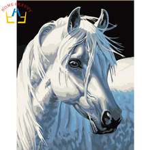 40x50cm framed digital oil painting by numbers diy home decoration paint on canvas unique gift craft picture horse J042