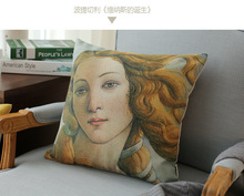 Botticelli Birth Of Venus Great Art Paint Pillow Cover Massager Decorative Pillows Vintage Style Home Decor Elegant Gift