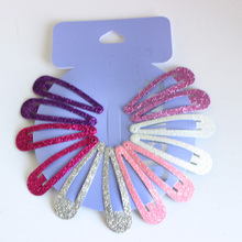 12pcs/lot Gradient glitter women 's headwear Hair Snap Clips Christmas gifts bobby pin accessories hairgrips Barrettes hairpins