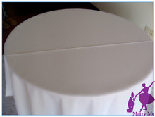10pcs plain polyester round white tablecloth for event decor