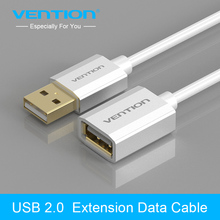 Vention USB2.0 Extension Cable For Computer Male To Female USB Data Sync Adapter Extender Cable 1m For PC Laptop U Disk Mouse(China)