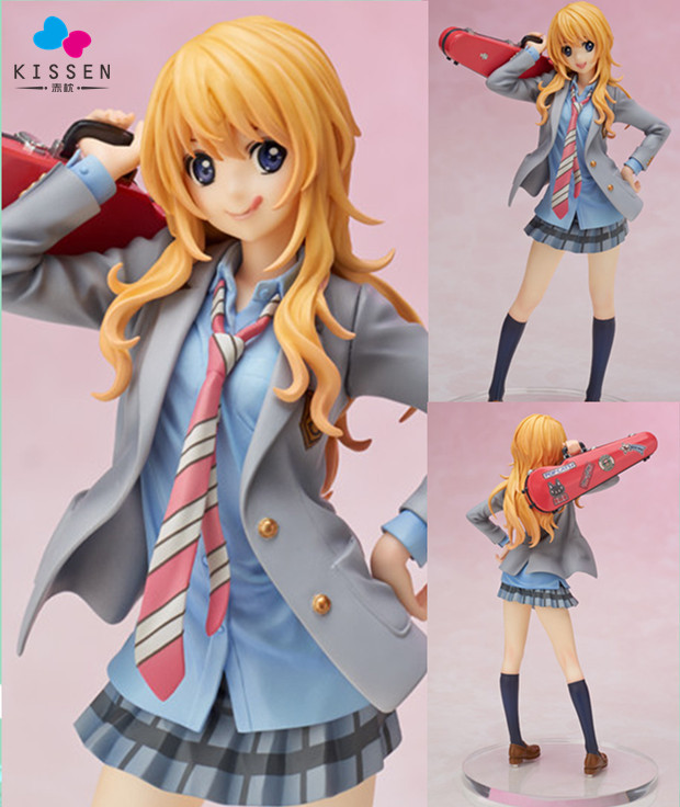 Kissen Your Lie in April Miyazono Kaori Action Figure 1/8 scale painted figure Cute Uniform Ver. Statue no box (Chinese Version)<br><br>Aliexpress