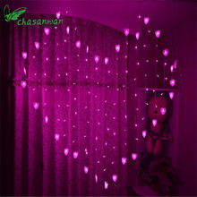 New Heart-shaped Love Curtains To Marry Wedding Decoration LED Light String Lights Casamento Home Decoration Accessories Boda,Q(China)