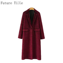 Future Time Winter Coats Women Velvet Long Jackets Female Padded Wine Red Parka Casual Warm Outwear Vintage Jackets PU060(China)