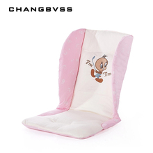 Comfortable Baby Feeding Chair Pad Stroller Seat Cushion Car Pad Child Cart Cushion Cotton Mat For Pushchair Cartoon Pram Pad(China)