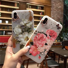 "Buy sFor iPhone X Case Silicone Niceking Cute Cartoon Relief Flowers Matte TPU Soft Back Cover Relief Case iPhone X iPhoneX 5.8"" for $3.99 in AliExpress store"