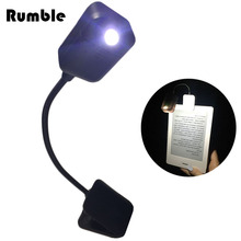 Booklight Led Ebook Light Mini Flexible Bright Clip-on Book Reader Reading Lamp Clip Button For Reader For Kindle For Notebook(China)