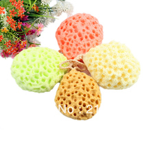Wholesale&Retail Bath Scrubber Shower Spa Sponge Body Cleaning Scrub Free Shipping