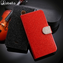 AKABEILA Glitter Bling Mobile Phone Cases For Explay Vega Covers Wallet Stand Flip Holster Bag For Explay Vega Case Cover(China)