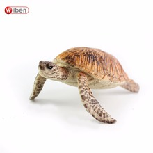 Wiben Sea Turtle Chelonioidea Model High Quality Hand Painted PVC Marine Life Animal Toys Gift Collections For Kids