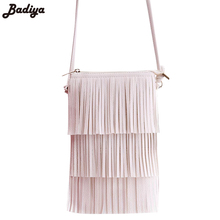 Hot Sale Mini Tassel Women Handbags Messenger Bag Ladies Crossbody Bag Vintage Small Phone Bag Bolsa Feminina