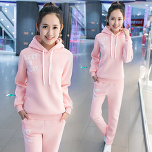 QMGOOD Fashion Autumn Winter women Hoody Sportswear Suits lady Casual Tracksuits set Two Piece Set Woman fashion Costumes Set(China)