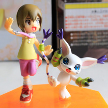 Anime Digimon Adventure Yagami Hikari Tailmon Ver PVC Action Figure Collectible Model doll toy 9.5cm(China)