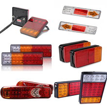 Castaleca 1 Pair 12V/24V Truck Trailer Rear Light Waterproof Camper Indicator Reverse Van Car Truck taillight 8 19 20 30 36LED