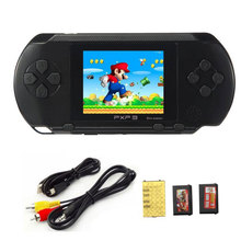 2.7 Inch 16 Bit Handheld Game Player PXP 3 Children's Video Game Console Retro Classic Games with 2 Game Cards TV Out