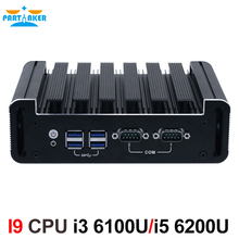 Partaker 3G 4G Support Industrial PC With I3 6100U DP HDMI Two Display DDR4 RAM Computer(China)