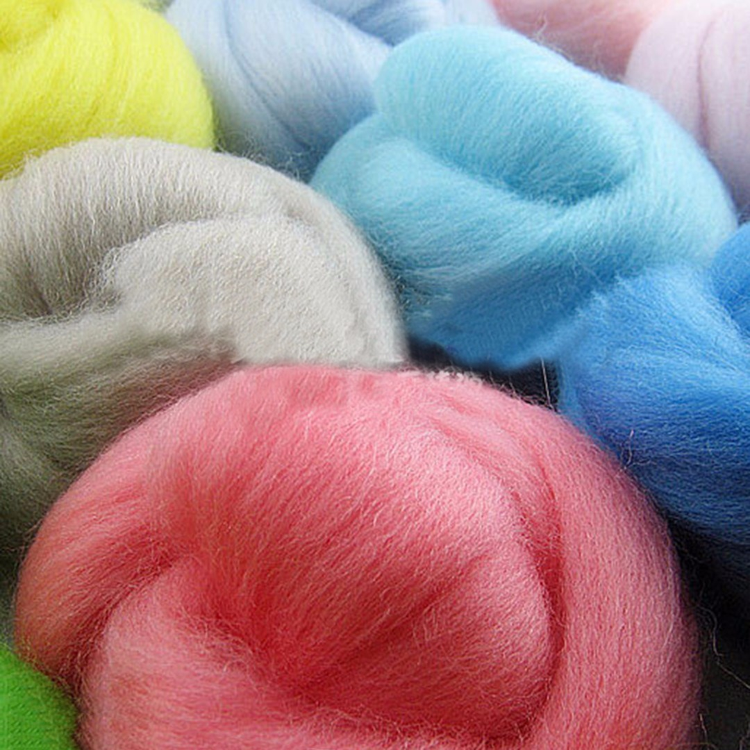 1 Set Newest 5g 17 Colors Merino Wool Fibre Roving For Needle Felting Hand Spinning