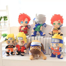 Anime Naruto Movie The Last Uzumaki Sasuke Uchiha Uzumaki Gaara Hatake Kakashi Naruto Action Plush Toy(China)