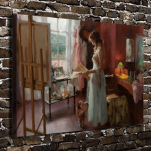 A815 Sexy Girl Naked Reading Figures Scenery.HD Canvas Print Home decoration Living Room bedroom Wall pictures Art painting