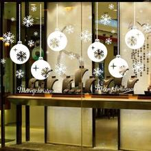 Hot sale PC Merry Christmas Snowflake Window Stickers Bedroom Living Room Wall Decals Wallpapers Home Ornaments Xmas #(China)